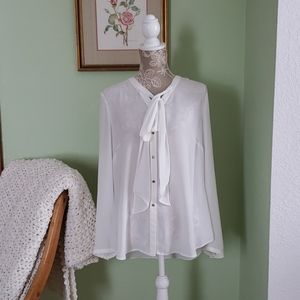 Sheer White Blouse (L)
